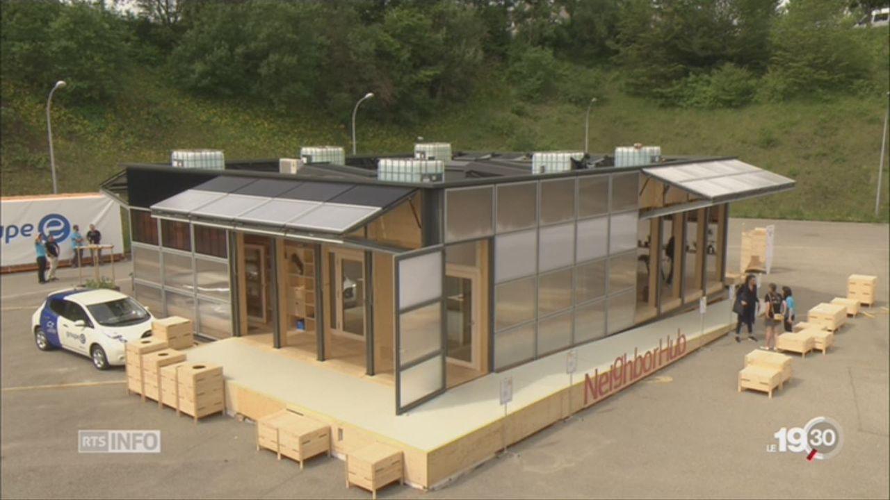 NeighborHub, la maison solaire suisse primée aux Etats-Unis [RTS]