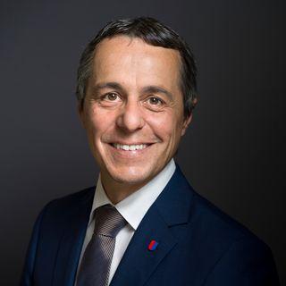 Ignazio Cassis, le 17 août 2017, à Berne. [Gaetan Bally]