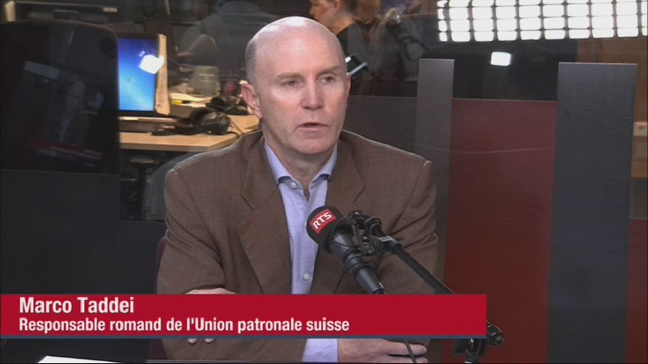 Marco Taddei, responsable romand de l'Union patronale suisse (vidéo) [RTS]