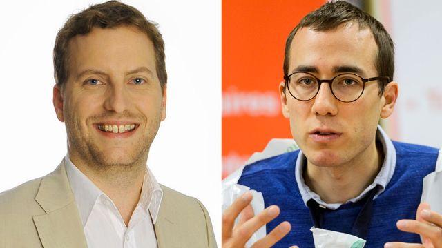 Michaël Dupertuis et Benoît Gaillard. [Vert'libéraux/Keystone]