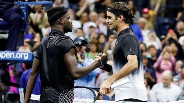 Federer et Tiafoe lors de leur dernier affrontement à l'US Open. [Justin Lane - Keystone]
