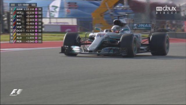 Q3, 72e pole position pour Lewis Hamilton (GRB) devant Sebastian Vettel (GER) et Valtteri Bottas (FIN) [RTS]