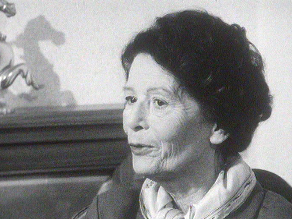 L'auteure vaudoise Catherine Colomb, 1961. [RTS]
