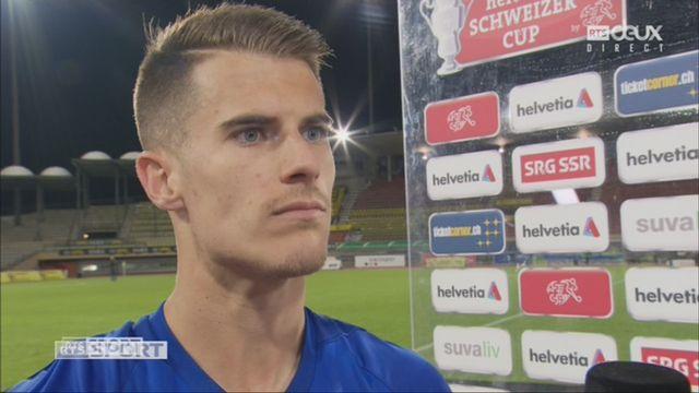 Coupe de Suisse, 8es de finale: Lausanne -Sport – Grasshopper 0-1, l'interview de Jérémy Manière [RTS]