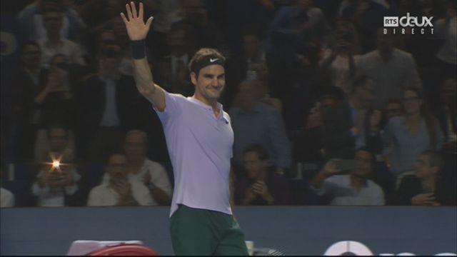 Bâle, 1-8e : R. Federer (SUI) bat B. Paire (FRA) (6-1, 6-3) [RTS]
