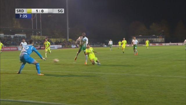 Coupe de Suisse, 8es de finale: Delémont - Saint-Gall 1-0, Stadelmann 7e [RTS]