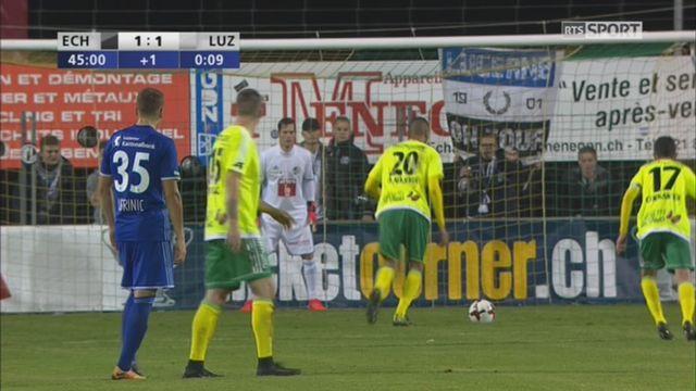 Coupe de Suisse, 8es de finale: Echallens - Lucerne 1-1, El Allaoui 45e [RTS]