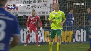 Coupe de Suisse, 8es de finale: Echallens - Lucerne 2-3, Vargas 86e [RTS]
