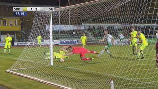 Coupe de Suisse, 8es de finale: Delémont - Saint-Gall 1-2, Carvalho csc 78e [RTS]
