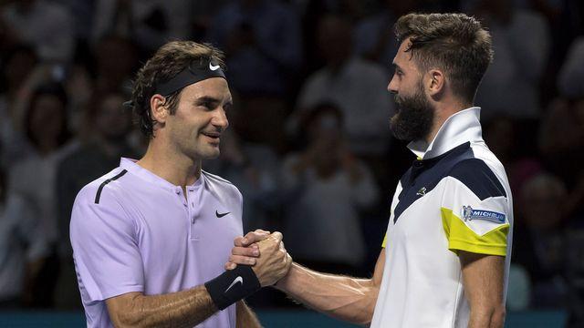 Federer n'a pas eu à forcer son talent contre Paire. [Georgios Kefalas - Keystone]