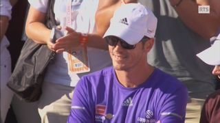Magnus Norman dans la tribune de Roland Garros en 2015 [RTS]