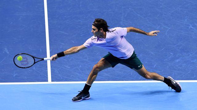 Roger Federer à Bâle le 24 octobre 2017. [Kurt Schorrer - Keystone]