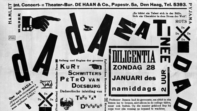 Affiche dada, Van Moorsel donation to the Dutch State 1981. [Centraal Museum, Utrecht - Wikimedia Commons]