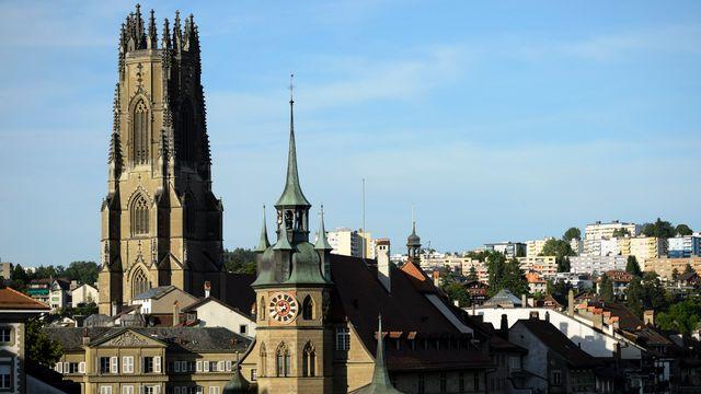 La cathédrale St-Nicolas à Fribourg. [Laurent Gillieron - Keystone]
