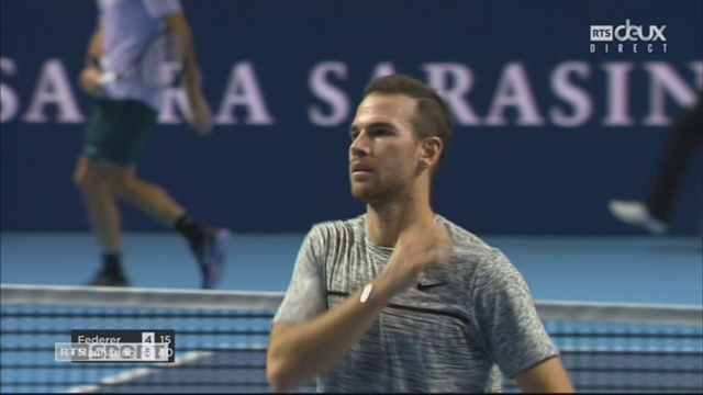 Bâle, 1-4: R. Federer (SUI) – A. Mannarino (FRA) (4-6) [RTS]