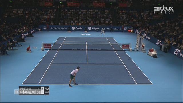 Bâle, 1-4: R. Federer (SUI) – A. Mannarino (FRA) (4-6, 6-1) [RTS]