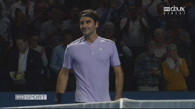 Bâle, 1-4: R. Federer (SUI) bat A. Mannarino (FRA) (4-6, 6-1, 6-3) [RTS]