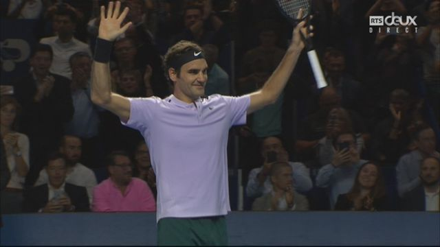 Bâle, 1-2 : R. Federer (SUI) bat D. Goffin (BEL) (6-1, 6-2) [RTS]