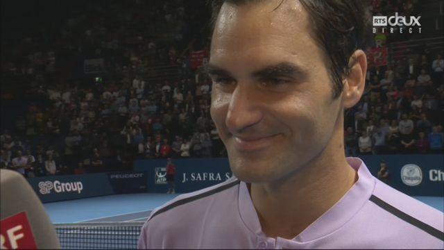 L'interview de Federer après sa victoire en 1-2 contre Goffin [RTS]