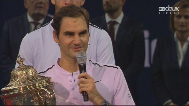 La réaction de Federer après sa victoire [RTS]