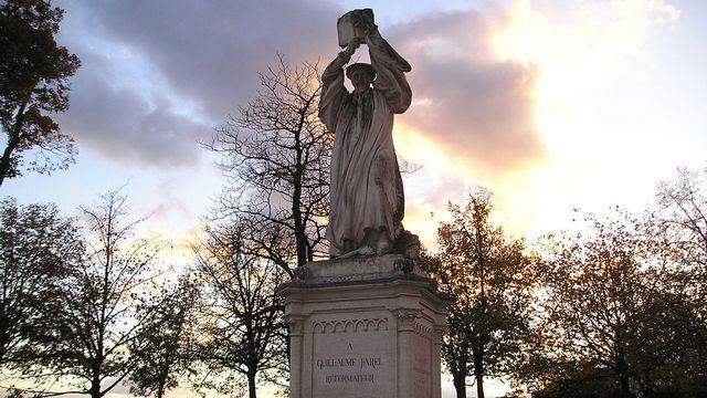 Statue de Guillaume Farel à Neuchâtel