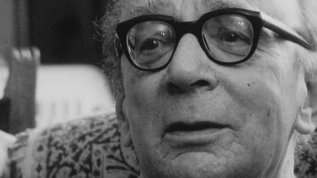 Le militant communiste Jules Humbert-Droz en 1971. [RTS]