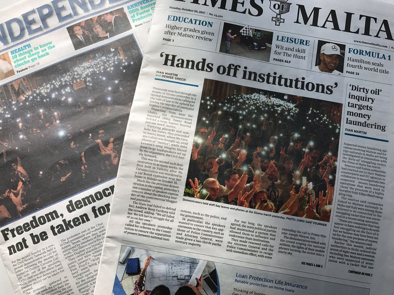La presse maltaise pointe du doigt les institutions.