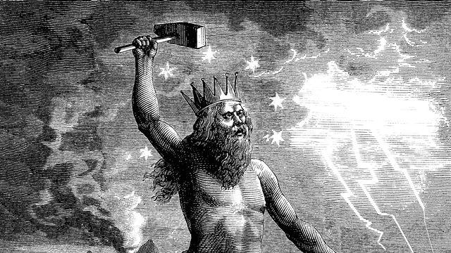 Thor est le dieu du tonnerre dans la mythologique nordique. [© Erica Guilane-Nachez - Fotolia]
