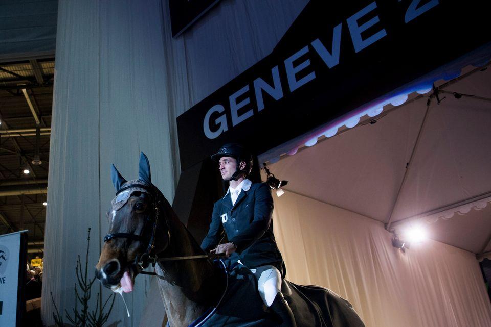 Steve Guerdat lors du CHI de Genève en 2016. [Gustavo Lorenzo - Keystone]