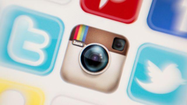 Le logo du réseau social Instagram, propriété de Facebook (image d'illustration). [Tobias Hase - Keystone]