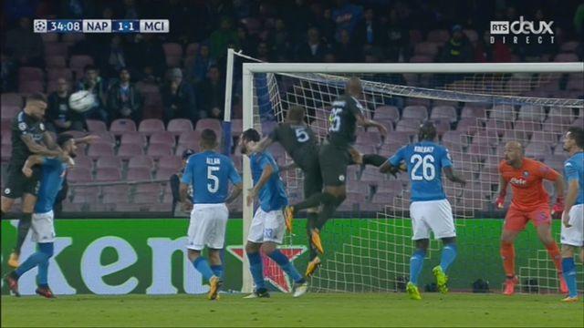 Ligue des Champions, Gr.F, Naples – Manchester City (1-1): 34e Otamendi [RTS]