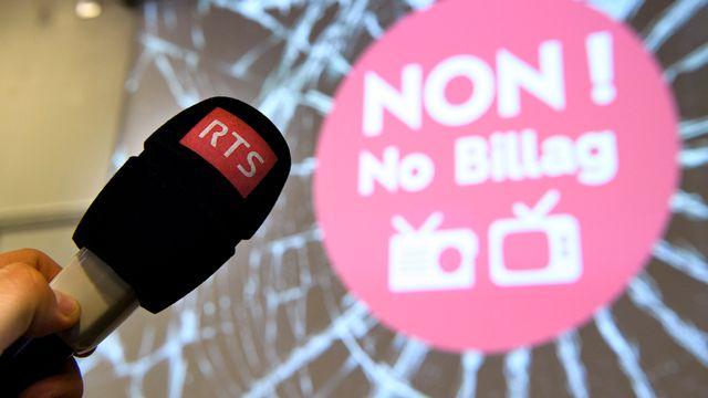 La votation sur l'initiative No Billag est agendée le 4 mars 2018. [Laurent Gillieron - keystone]