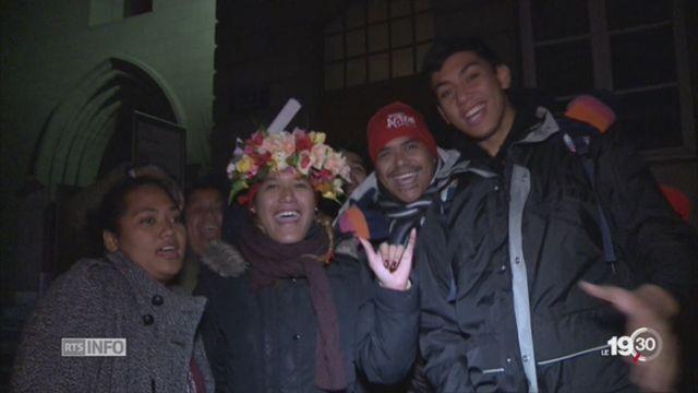 Plusieurs milliers de jeunes sont à Genève pour fêter les 500 ans de la réforme [RTS]