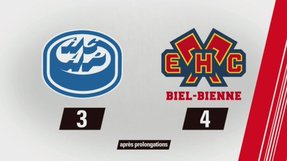 Ambri-Piotta - Bienne (3-4): tout les buts de la rencontre [RTS]
