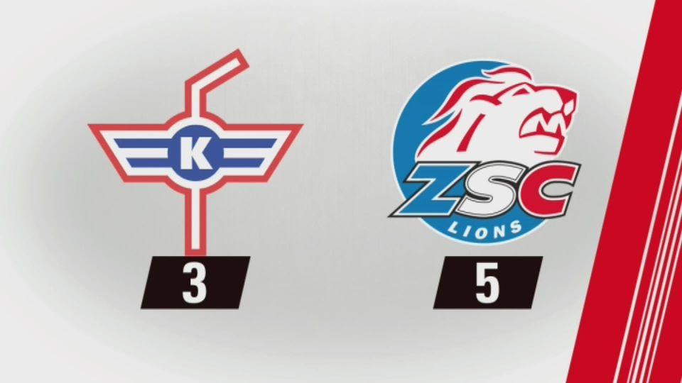 Kloten - Zurich (3-5): tout les buts de la rencontre [RTS]