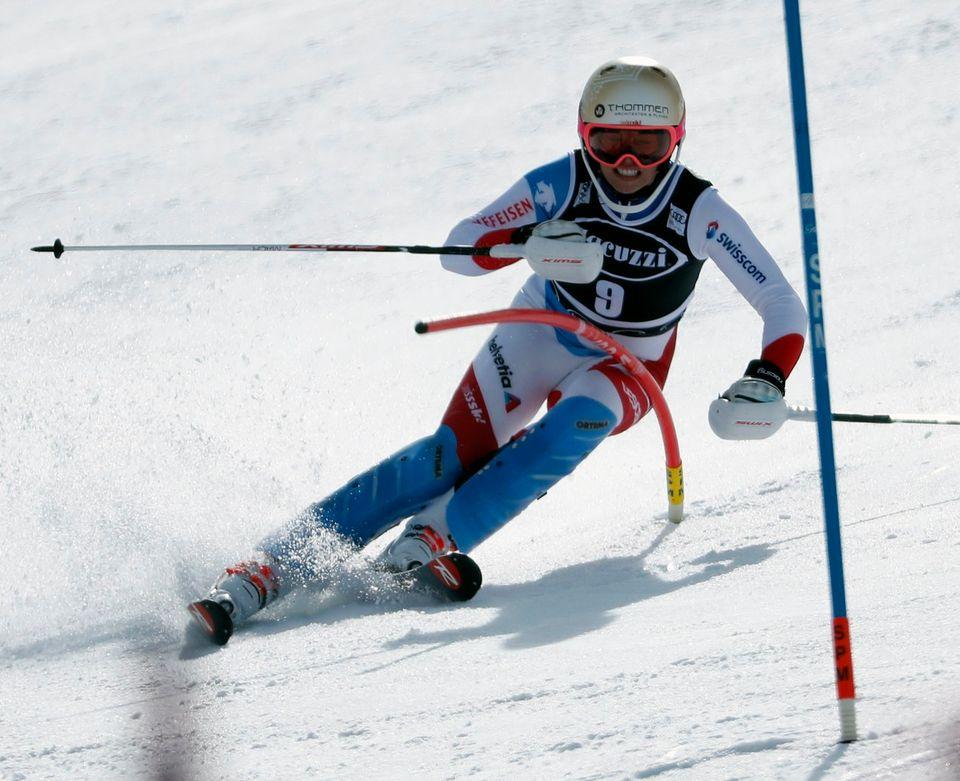 Michelle Gisin n'avait pas pu disputer le 28 octobre à Sölden la 1re course de la saison, un géant. [John G.Mabanglo - Keystone]