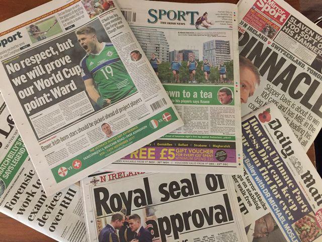 Quelques titres de la presse nord-irlandaise. [RTS]