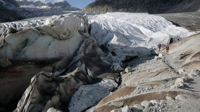 La fonte des glaciers [Peter Klaunzer - Keystone]