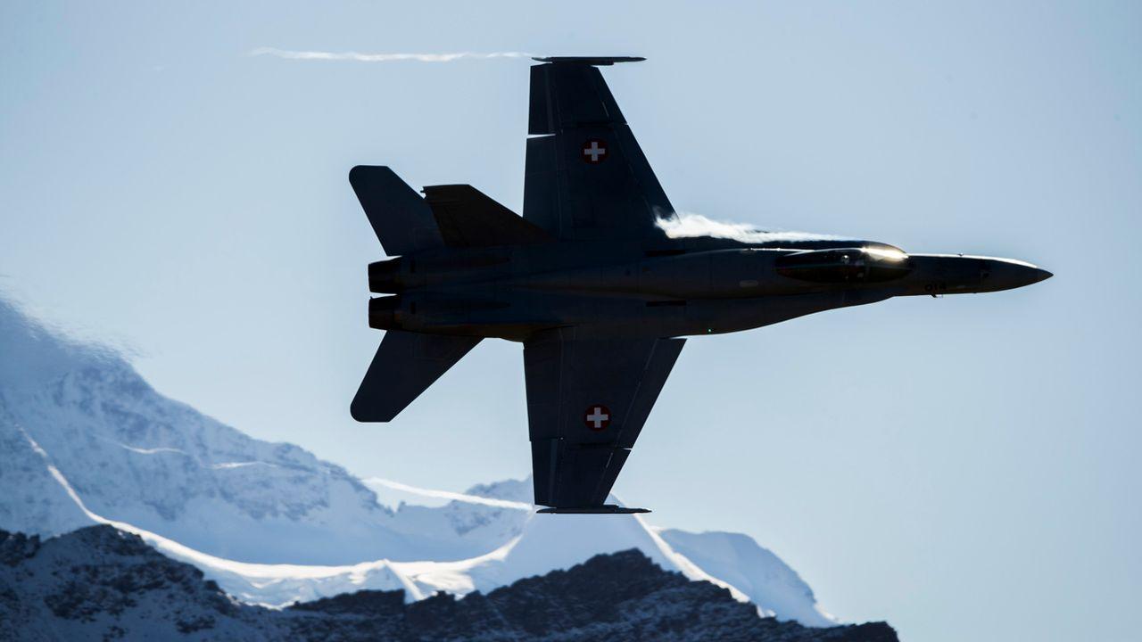 Les futurs appareils doivent remplacer les F-A-18 de l'armée suisse. [Christian Merz - Keystone]