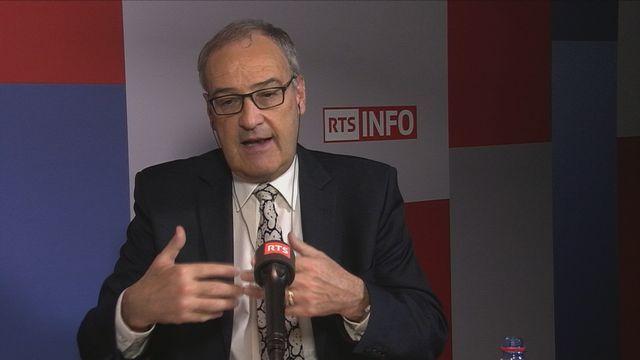 Guy Parmelin, conseiller fédéral UDC. [RTS]