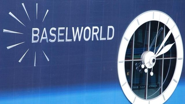 Enseigne de la grande foire horlogère Baselworld. [DR]