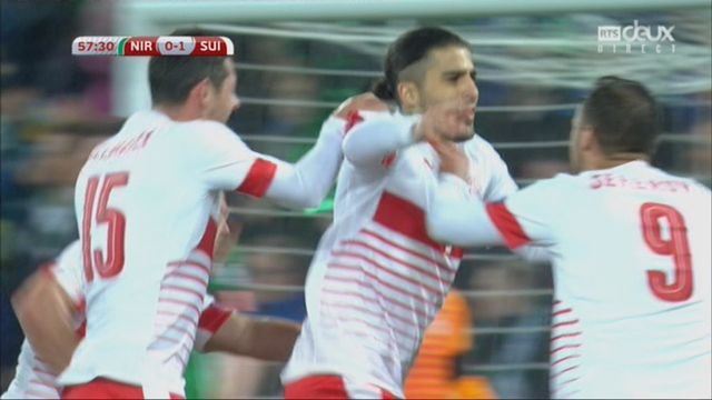 Football, barrages, Irlande du Nord - Suisse (0-1) Rodriguez sur penalty 58e [RTS]