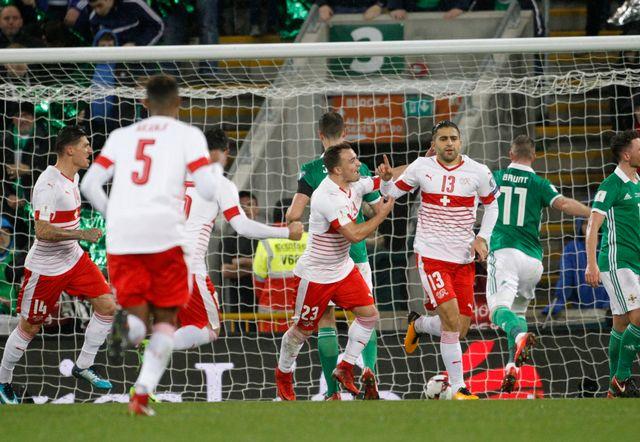 Rodriguez a délivré la Suisse à la 58e minute. [Peter Morrison - Keystone]
