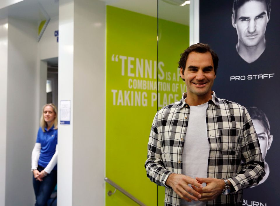 Federer entrera en lice dimanche dans le Masters de Londres. [Alastair Grant - Keystone]