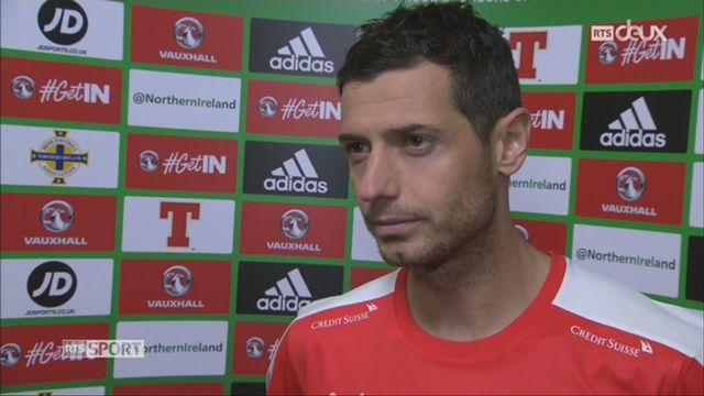 Football, barrages, Irlande du Nord - Suisse (0-1) L'interview de Dzemaili [RTS]