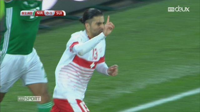 Football, barrages, Irlande du Nord - Suisse (0-1) action litigieuse dans les 16 mètres suisses [RTS]