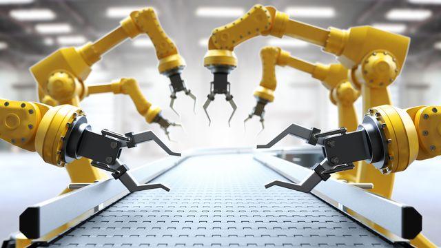 Chaîne de production robotisée. [Thomas Söllner - Fotolia]