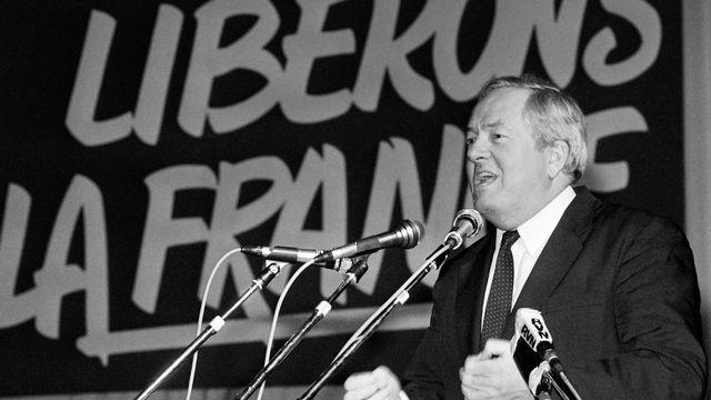 Jean-Marie Le Pen en 1986. [Boris Horvat - AFP]