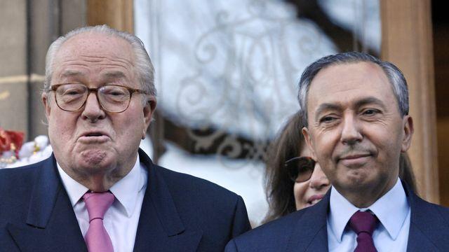 Jean-Marie Le Pen et Bruno Mégret. [Stéphane de Sakutin - AFP]