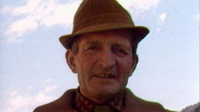 Un ancien mineur de Grône en Valais. [RTS]